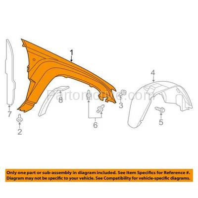 Aftermarket Replacement - FDR-1364R 05-10 Grand Cherokee Front Fender Quarter Panel Right Side CH1241242 55394450AB - Image 3