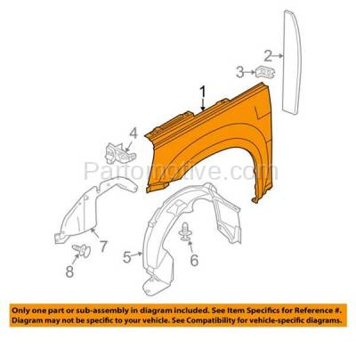 Aftermarket Replacement - FDR-1250L 05-09 Chevy Equinox Front Fender Quarter Panel Driver Side LH GM1240319 25849189 - Image 3