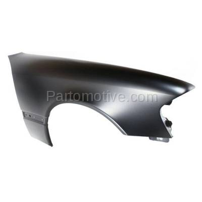 Aftermarket Replacement - FDR-1110R 1994-2000 Mercedes Benz C-Class (Sedan 4-Door) Front Fender Quarter Panel (with Molding Holes) Steel Right Passenger Side - Image 3