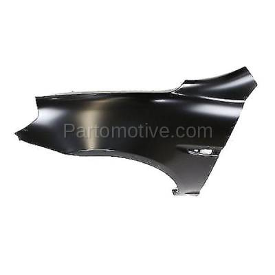 Aftermarket Replacement - FDR-1059L 2006-2011 Hyundai Accent 1.6L Front Fender Quarter Panel with Turn Signal Light Hole Primed Steel Left Driver Side - Image 2