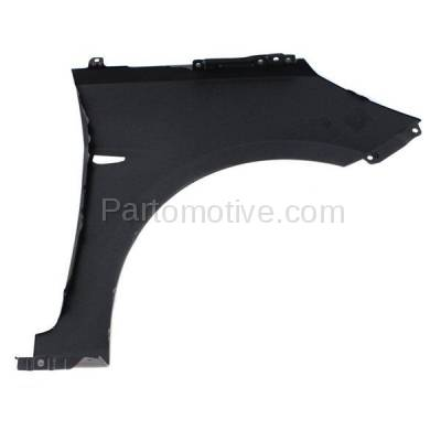 Aftermarket Replacement - FDR-1060L 2012 Hyundai Accent 1.6L Front Fender Quarter Panel with Turn Signal Light Hole (without Molding Holes) Primed Steel Left Driver Side - Image 3