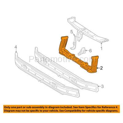 Aftermarket Replacement - RSP-1532 1996-2002 Mercedes-Benz E-Class (Sedan & Wagon) Front Radiator Support Lower Crossmember Tie Bar Panel Primed Made of Steel - Image 3