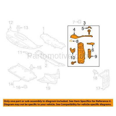 Aftermarket Replacement - RSP-1468R 2016-2017 Lexus IS200t & 2014-2018 IS250/IS350 & 2016-2018 IS300 Front Radiator Support Upper Tie Bar Bracket Panel Right Passenger Side - Image 3