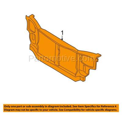Aftermarket Replacement - RSP-1383 2000-2002 Hyundai Accent (GL, GS, L) (1.5L & 1.6L) (with Automatic Transmission) Front Radiator Support Core Assembly Primed Steel - Image 3