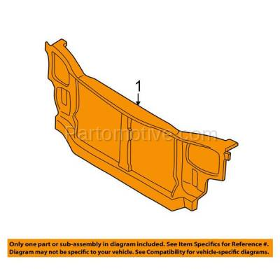 Aftermarket Replacement - RSP-1384 2000-2002 Hyundai Accent (GL, GS, L) (1.5L & 1.6L) (with Manual Transmission) Front Radiator Support Core Assembly Primed Steel - Image 3