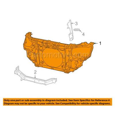 Aftermarket Replacement - RSP-1109 2009-2018 Dodge Journey (2.4 & 3.5 & 3.6 Liter Engine) Front Center Radiator Support Core Assembly Primed Made of Plastic - Image 3