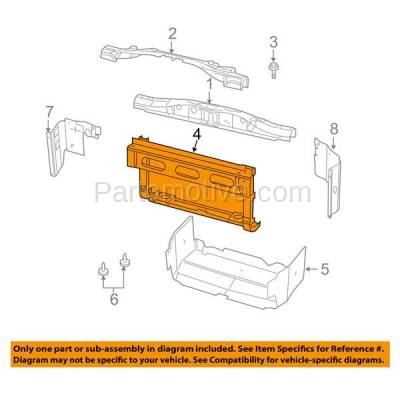 Aftermarket Replacement - RSP-1081 2005-2011 Dodge Ram Dakota Pickup Truck & 2006- 2009 Mitsubishi Raider Front Lower Crossmember Radiator Support Core Tie-Bar Assembly - Image 3