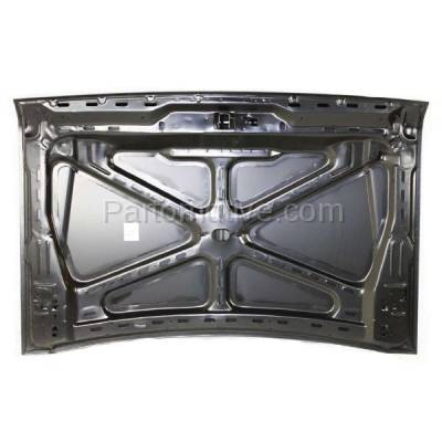 Aftermarket Replacement - HDD-1146 1987-1991 Ford Bronco & F-Series F150/F250/F350/F53/F59/ F Super Duty Pickup Truck Front Hood Panel Assembly Primed Steel - Image 3
