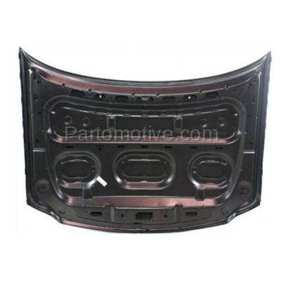 Aftermarket Replacement - HDD-1157 1997-2002 Ford Expedition & 1997-2004 F150 & 1997-1999 F250 Pickup Truck V6/V8 Front Hood Panel Assembly Primed Aluminum - Image 3