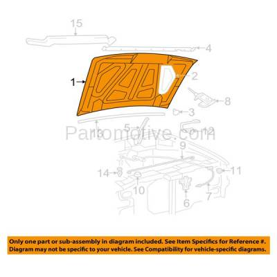 Aftermarket Replacement - HDD-1155 1998-2003 Ford Ranger & 1998-2010 Mazda B-Series B2300/B2500/B3000/B4000 Pickup Truck 2WD/4WD Front Hood Panel Assembly Primed Steel - Image 3