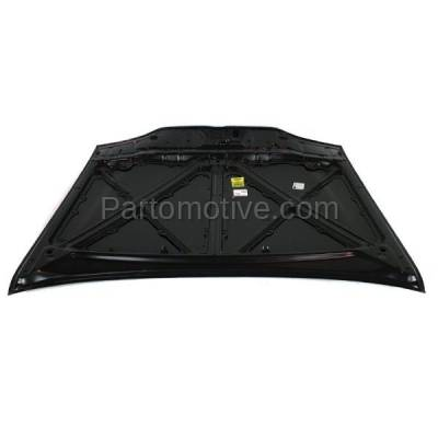 Aftermarket Replacement - HDD-1229 1998-2002 Chevy Prizm (Base, LSi) Sedan 4-Door 1.8L Front Hood Panel Assembly Primed Steelwith Windshield Washer Nozzle Holes - Image 3