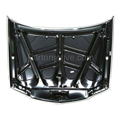 Aftermarket Replacement - HDD-1007 2006-2008 Acura TSX (Sedan 4-Door) 2.4L Front Hood Panel Assembly Primed Steel - Image 2