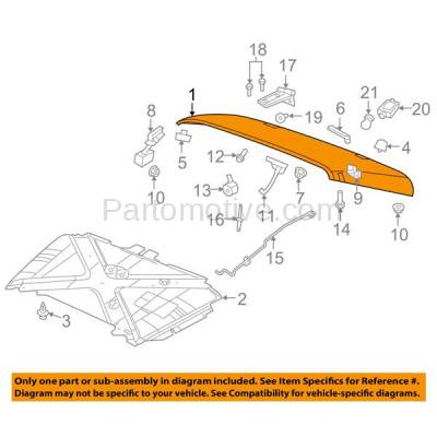 Aftermarket Replacement - HDD-1133 2013-2018 Jeep Wrangler 3.6L V6 (Standard Hood Type without Power Bulge) Front Hood Panel Assembly Primed Steel - Image 3