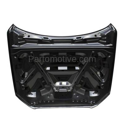 Aftermarket Replacement - HDD-1031 2009-2012 Audi Q5 (2.0L & 3.2L) Front Hood Panel Assembly Primed Steel - Image 3