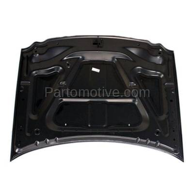 Aftermarket Replacement - HDD-1112 2005-2010 Jeep Grand Cherokee (Laredo, Limited, Overland, North, S Limited, SRT8) V6/V8 Front Hood Panel Assembly Primed Steel - Image 3