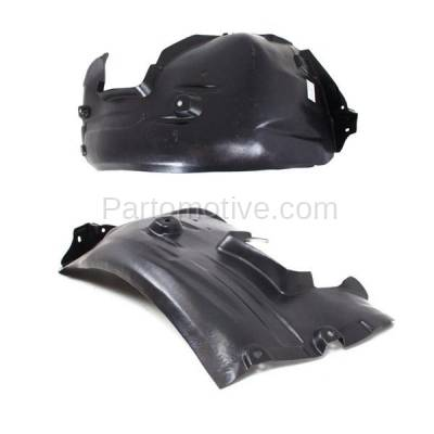 Aftermarket Replacement - IFD-1088L & IFD-1088R 07-13 3-Series 2-Door Front Splash Shield Inner Fender Liner Left Right SET PAIR - Image 2