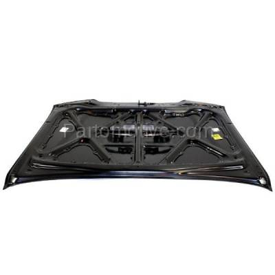 Aftermarket Replacement - HDD-1694 2005-2011 Toyota Tacoma Pickup Truck (Base, Pre Runner, X-Runner) (Models with Hood Scoop) Front Hood Panel Assembly Primed Steel - Image 3