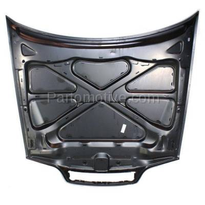 Aftermarket Replacement - HDD-1726 1998-2004 Volvo C70, V70 & 1998-2000 S70 (2.4T, 2.5T, AWD, Base, GLT, R, T5, X/C) Front Hood Panel Assembly Primed Steel - Image 3