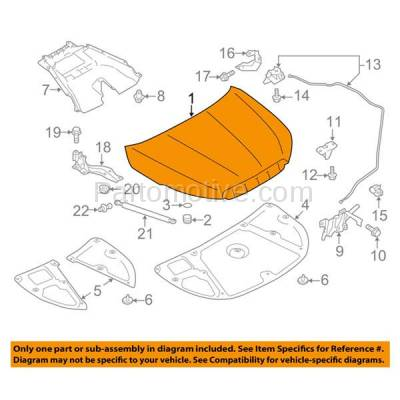 Aftermarket Replacement - HDD-1641 2014-2018 Subaru Forester 2.0XT & 2.5i (Convenience, Limited, Premium, Touring) Wagon Front Hood Panel Assembly Primed Aluminum - Image 3