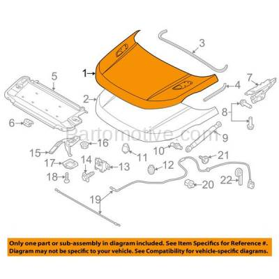 Aftermarket Replacement - HDD-1608 2012-2017 Land Rover Range Rover Evoque (Autobiography, Dynamic, HSE, Pure, SE) 2.0L Front Hood Panel Assembly Primed Aluminum - Image 3