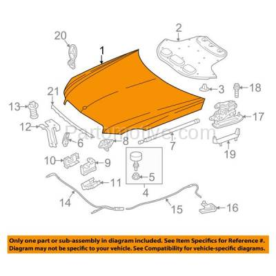 Aftermarket Replacement - HDD-1515 2014-2016 Mercedes-Benz E-Class E250/E300/E350/E400/E550/E63 AMG/AMG S (Sedan & Wagon) Front Hood Panel Assembly Primed Aluminum - Image 3