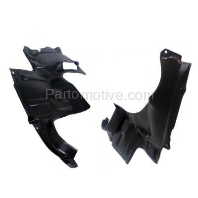 Aftermarket Replacement - ESS-1416L & ESS-1416R 00-01 MPV Front Fender Engine Splash Shield Under Cover Left Right Side SET PAIR - Image 2