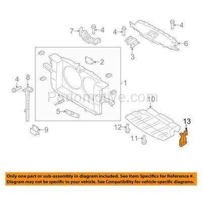 Aftermarket Replacement - ESS-1331L & ESS-1331R 2007-2013 Infiniti/Nissan G25/G35/G37/EX35/EX37 & 2009-2019 370Z & 2014-2017 Q40/Q60/QX50 Engine Splash Shield SET PAIR Left & Right Side - Image 3