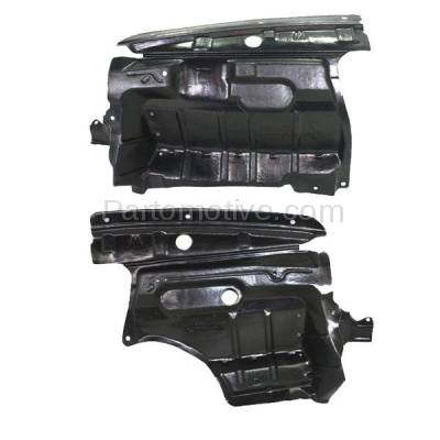 Aftermarket Replacement - ESS-1332L & ESS-1332R Front Engine Splash Shield Under Cover Guard Fits 00-01 I30 Left Right SET PAIR - Image 2