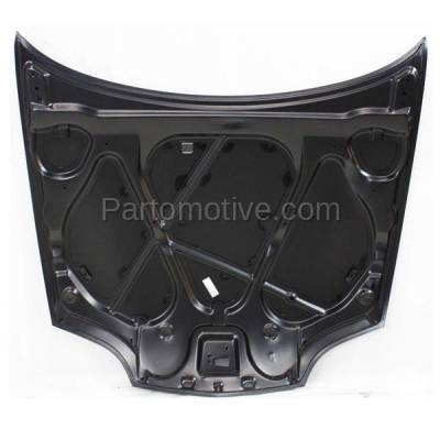 Aftermarket Replacement - HDD-1216 1995-2002 Chevy Cavalier (Base, LS, RS, Z24) (Coupe & Sedan) Front Hood Panel Assembly Primed Steel - Image 3
