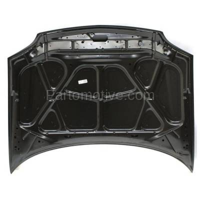 Aftermarket Replacement - HDD-1184 2002-2010 Mercury Mountaineer (Base, Convenience, Luxury, Premier) (4.0 & 4.6 Liter V6/V8) Front Hood Panel Assembly Primed Steel - Image 3