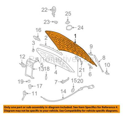 Aftermarket Replacement - HDD-1253 2000-2005 Cadillac DeVille (Limousine & Sedan 4-Door) 4.6L (without RPO-TL4) Front Hood Panel Assembly Primed Steel - Image 3