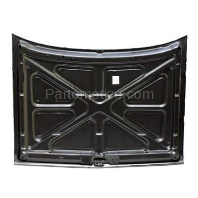 Aftermarket Replacement - HDD-1072 1981-1993 Dodge Ramcharger & D150/D250/D350/D400/D500 & W150/W250/W350 Full Size Pickup Truck Front Hood Panel Assembly Primed Steel - Image 3