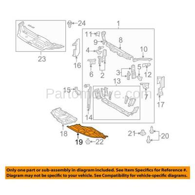 Aftermarket Replacement - ESS-1611LC CAPA For 11-12 Avalon Front Engine Splash Shield Under Cover Guard Driver Side - Image 3