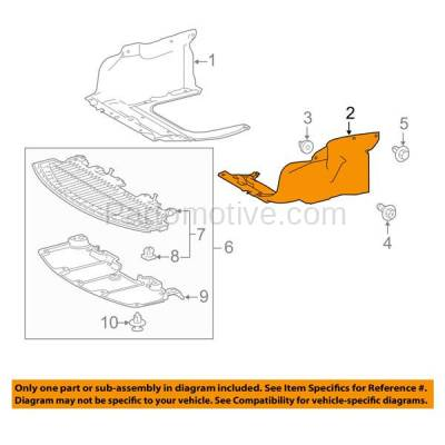 Aftermarket Replacement - ESS-1591LC 2014-2019 Toyota Corolla 1.8L (with Manual Transmission) Front Engine Under Cover Splash Shield Undercar Guard Plastic Left Driver Side - Image 3