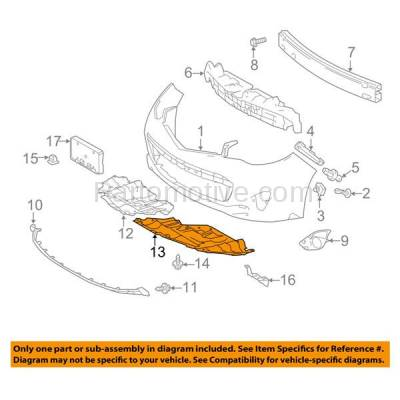 Aftermarket Replacement - ESS-1594LC CAPA For 13-15 Avalon Front Engine Splash Shield Under Cover Left Driver Side - Image 3