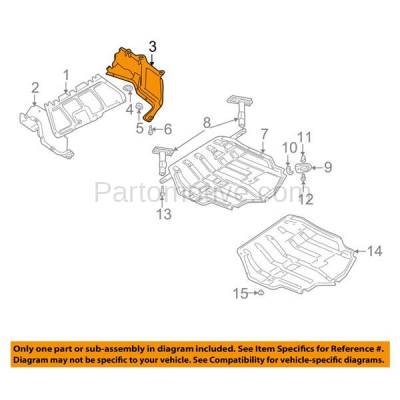 Aftermarket Replacement - ESS-1664LC CAPA For 99-06 VW Golf Engine Splash Shield Under Cover Driver Side 1J0825245F - Image 3