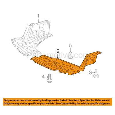 Aftermarket Replacement - ESS-1633LC CAPA For 07-12 Yaris & xD Front Engine Splash Shield Under Cover LH Driver Side - Image 3
