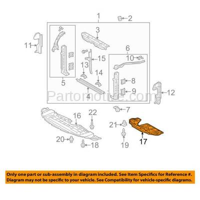 Aftermarket Replacement - ESS-1622C CAPA For 10-13 Highlander & 11-13 Sienna Rear Engine Splash Shield Under Cover - Image 3