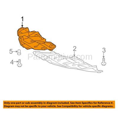 Aftermarket Replacement - ESS-1634RC CAPA For 07 08 09 Camry Engine Splash Shield Under Cover USA Built Right Side - Image 3