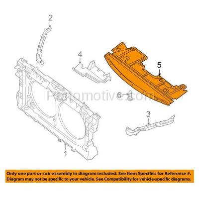 Aftermarket Replacement - ESS-1534C CAPA For Front Engine Splash Shield Under Cover For 07-09 Altima & 09-14 Maxima - Image 3