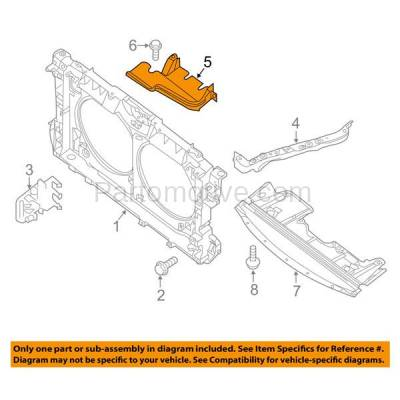 Aftermarket Replacement - ESS-1546C CAPA For Front Upper Engine Splash Shield Cover 07-12 Altima 09-14 Maxima 3.5L - Image 3