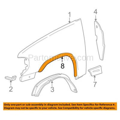 Aftermarket Replacement - FDF-1033LC CAPA For 07-17 Wrangler JK Front Fender Flare Wheel Opening Molding Trim Left - Image 3