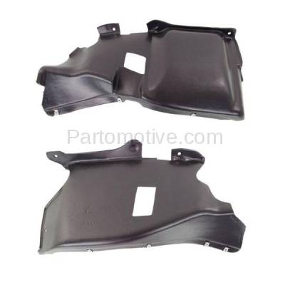 Aftermarket Replacement - ESS-1651L & ESS-1651R 03 04 05 Beetle Convertible Engine Splash Shield Under Cover Left Right SET PAIR - Image 1