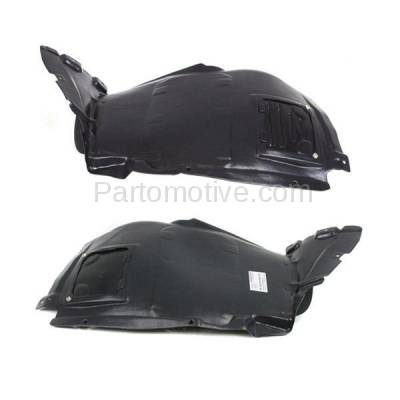 Aftermarket Replacement - IFD-1092L & IFD-1092R 08-13 1-Series Front Splash Shield Inner Fender Liner Panel Left Right SET PAIR - Image 1