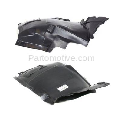 Aftermarket Replacement - IFD-1092L & IFD-1092R 08-13 1-Series Front Splash Shield Inner Fender Liner Panel Left Right SET PAIR - Image 2