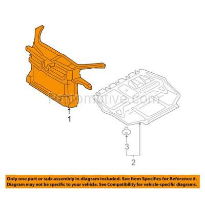 Aftermarket Replacement - RSP-1845 2005-2010 Volkswagen Jetta (1.9 & 2.0 Liter DIESEL Turbocharged Engine) Front Center Radiator Support Core Assembly Primed Plastic - Image 3