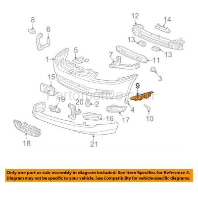 Aftermarket Replacement - BRT-1056FL & BRT-1056FR 03-07 Accord Front Bumper Cover Face Bar Retainer Mounting Brace Support Bracket Plastic SET PAIR Right Passenger & Left Driver Side - Image 3