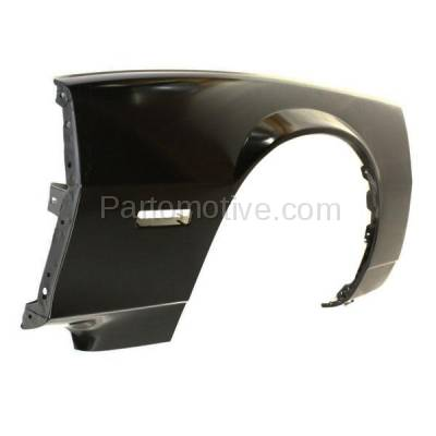 Aftermarket Replacement - FDR-1121L 1982-1992 Chevrolet Camaro Front Fender Quarter Panel with Molding Holes (without Holes for Body Cladding) Steel Left Driver Side - Image 3