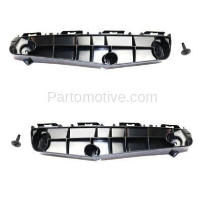 Aftermarket Replacement - BRT-1187FL & BRT-1187FR 2016-2018 Toyota Prius Hatchback Front Bumper Cover Retainer Mounting Brace Reinforcement Support Bracket SET PAIR Right & Left Side - Image 1