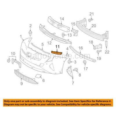 Aftermarket Replacement - BRT-1187FL & BRT-1187FR 2016-2018 Toyota Prius Hatchback Front Bumper Cover Retainer Mounting Brace Reinforcement Support Bracket SET PAIR Right & Left Side - Image 3
